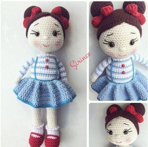 Amigurumi Dolls 180 Models | Amigurumi oyuncak bebek, Kroşe, Örme ... | 471x473
