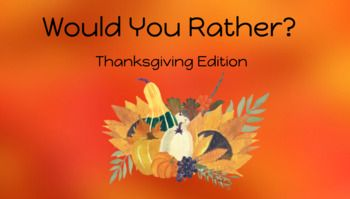 Thanksgiving Virtual Zoom Games Two Pack In 2020 Guess The Word Would You Rather School Work
