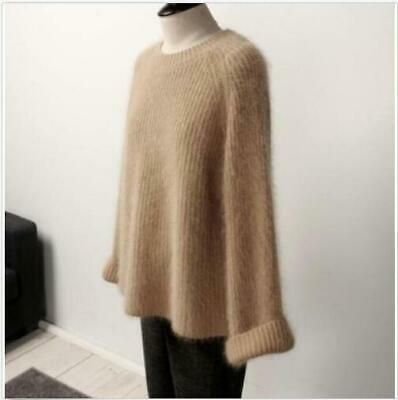 Sweater Coat Sweaters Pullover Stretch Fur Womens Jacket Cashmere Loose Oversize