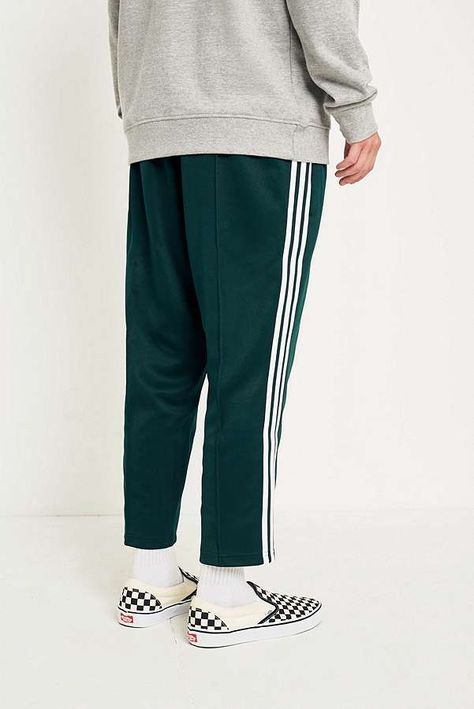 adidas Green Night SST Relaxed Crop Track Pants | Pants