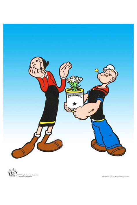 Popeye Characters Olive Oil Oliveoil, popeyes spinach,