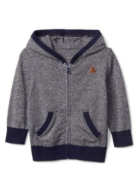 e56594a21 Gap Baby Marled Sweater Hoodie Dark Night Size 0-3 M
