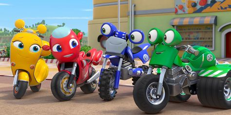 Ricky Zoom Is A New Series From The Creators Of Peppa Pig A Rai Ragazzi Production With Eone And The Italian Studio Kids Shows Kid Character Preschool Kids