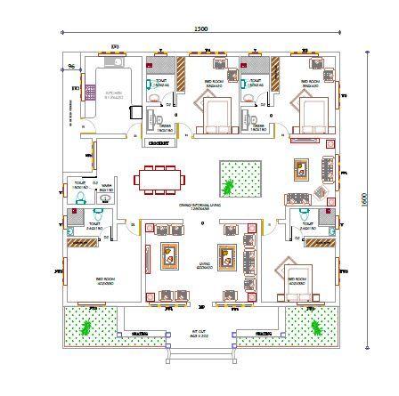 Ground Floor Single Storey House Plans Kerala House Design Square House Plans Simple chettinad house plan