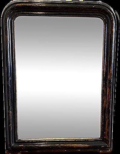 miroir ancien style louis philippe noir