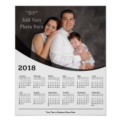 2018 Diy Custom Photo Calendar Poster Zazzle Com Custom Photo