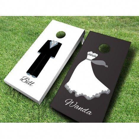 AJJ Cornhole These top of line x Bride and Groom Solid Wood Cornhole Board are sure to bring life to any party. The set comes ready to play with 8 cornhole bags. Bag Colour: Red/Royal, Customize: Yes Wedding Ties, Wedding Groom, Wedding Events, Wedding Dresses, Event Planning Tips, Wedding Planning, Summer Wedding, Wedding Day, Dream Wedding