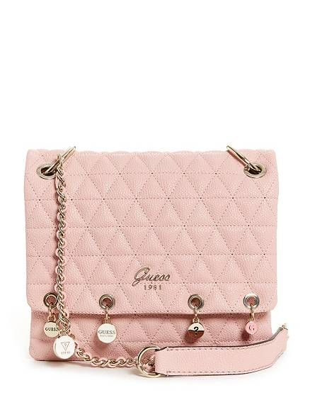 6696b4f9a756 Fleur Quilted Charm Crossbody   GUESS.com   pinnable clothes ...