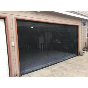 Fresh Air Screens 16 Ft X 7 Ft 2 Zipper Garage Door Screen With Rope Pull 1231 C 167 Rp The Home Depot In 2020 Garage Screen Door Garage Doors Garage Door Makeover