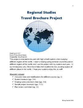 Regional Studies Travel Brochure Project   World History