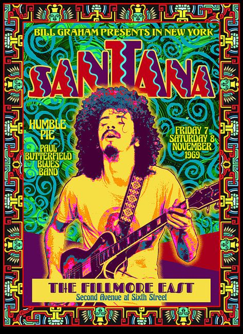 SANTANA at the FILLMORE EAST 1969