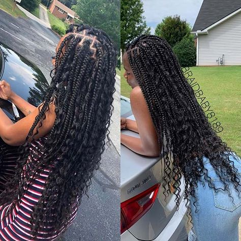Black Goddess Box Braids Hairstyles are a perfect selection if you look for a braided style. Here 24 perfect black goddess box braids hairstyles 2020 to copy. Pink Box Braids, Braids With Curls, Micro Braids, Braids Wig, Long Braids, Girls Braids, Twist Braids, Cornrows, Dutch Braids