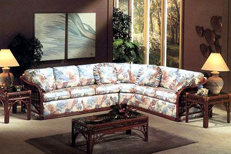 Caliente Sectional Rattan And Wicker Sunroom Set From Classic