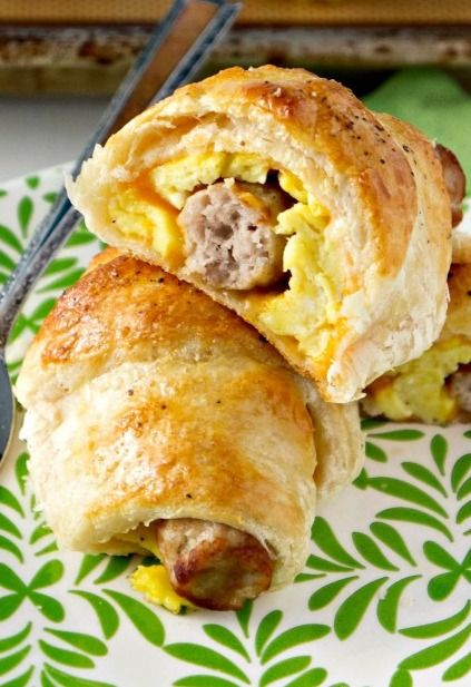 Sausage, Egg & Cheese Breakfast Roll-Ups