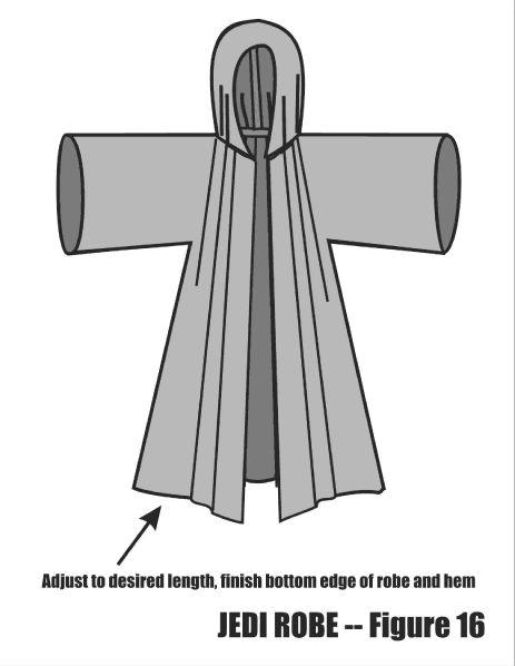 Jedi robe tutorial   http://www.thejediassembly.com/tutorials.php?id=sh5