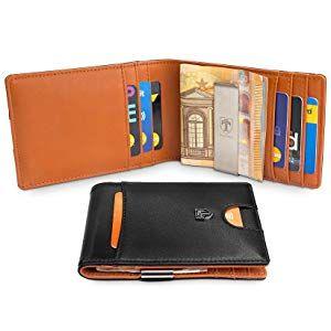 """TRAVANDO Slim Wallet with Money Clip /""""RIO/"""" RFID Blocking WalletCredit Card Ho"""