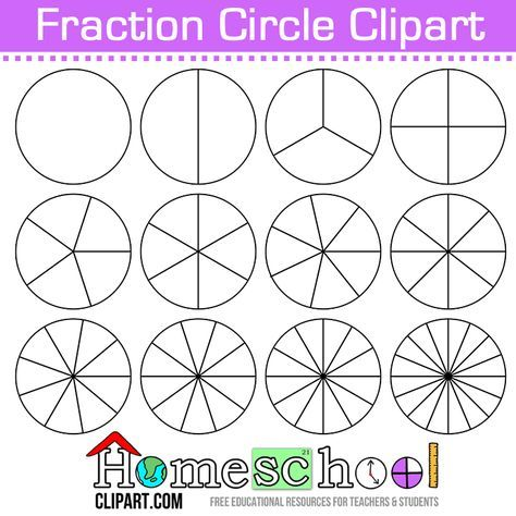 photo regarding Fraction Circles Printable identified as Absolutely free Portion Circle Clipart. Hire All those in direction of deliver your private fixed