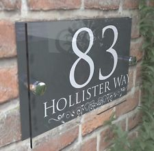 Decorative House Signs Plaques Door Numbers 1 999 Personalised