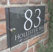 Laroyal Gold Vertical House Number Address Plaque Address Plaque