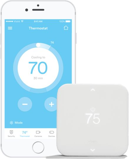 Wifi Thermostat With Smart Technology Vivint S Element Wireless System Alarm Wireless Alarm System