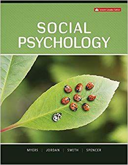 Social Psychology 7th Canadian Edition Psychology Ebook Social