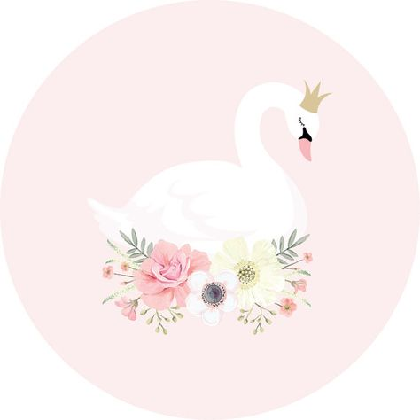 This beautiful swan princess wall decal will add that WOW factor to your little girls room or nursery! This extra large decal is available in 2 sizes (35cm or 64cm diam) and is printed full colour onto a peel and stick, polyester fabric material. Our decals can be installed on
