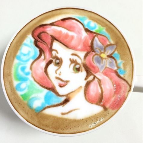 Pin for Later: The Cutest Latte Art You've Ever Seen, and That's No Lie The Little Mermaid