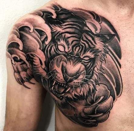 54 Trendy Tattoo Designs Men Drawings Chest Piece Chest Tattoo Tiger Chest Tattoo Men Tattoo Designs Men