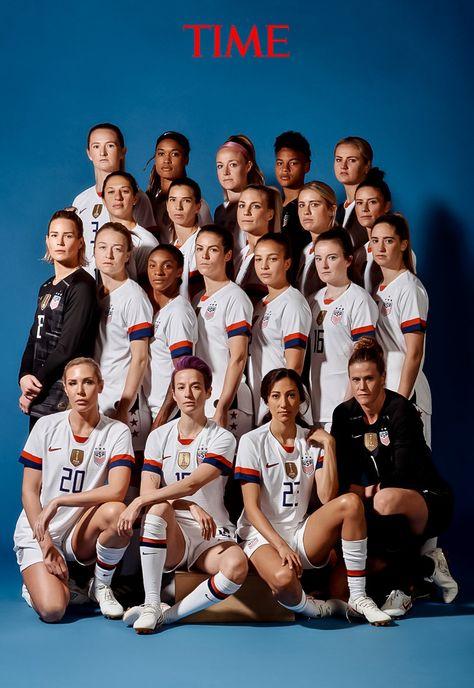 Women's Soccer Team named Time Magazine's Athlete of the Year 2019 Girls Soccer Team, Usa Soccer Team, Soccer Gear, Us Soccer, Team Usa, Soccer Players, A Team, Nike Soccer, Soccer Cleats