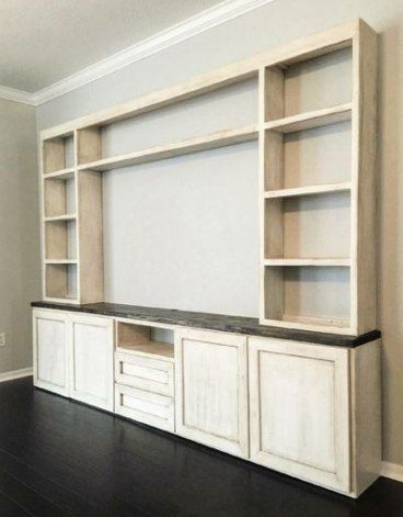 33 Trendy living room shelves ideas built ins entertainment center #livingroom
