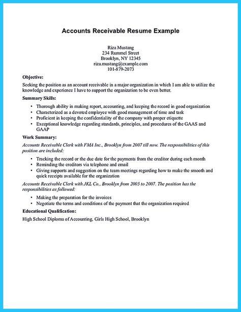 accounts receivable resume template unforgettable accounts