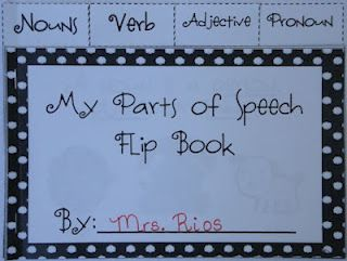 Free! This flip book reviews nouns, verbs, adjectives, and pronouns. Great for test prep!
