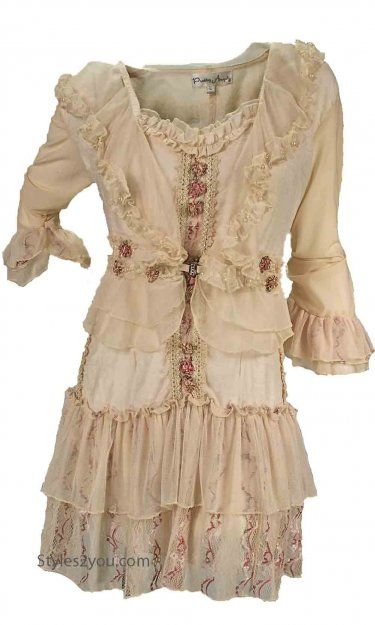 Altered shabby chic clothing on pinterest magnolia for Tenue shabby chic