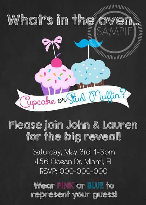 Cupcake or Stud Muffin Gender Reveal / by MyPrettyPartyShoppe