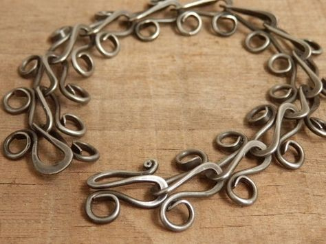 JeanineDesigns: Hand Forged Link Chain (steel)