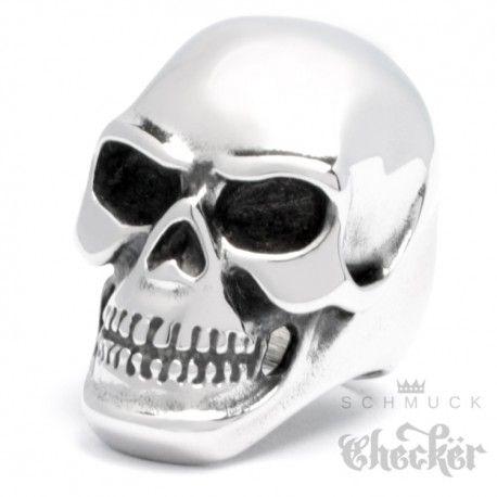Edelstahl Ohrstecker Skull Ohrringe Totenkopf  Rocker Biker