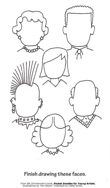 Use for Info Gap (2 of 2) estar \ describing emotions write - blank face template printable