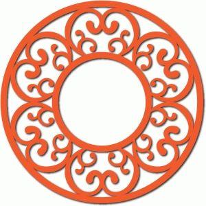 Silhouette Design Store - View Design #62520: scroll motif circle