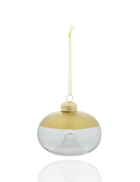 Gold-Dipped Glass Christmas Bauble