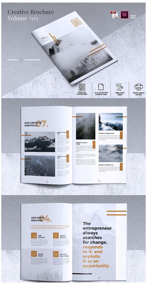 flyer layout brochure template