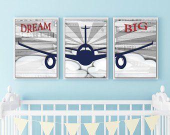 Wall Art For Nursery Bathroom Decor Home Decor By Fmdesignstudio Airplane Wall Art Airplane Nursery Decor Big Wall Art