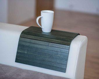 Sofa Table Sofa Arm Table Couch Arm Table Wood Sofa Arm Tray Etsy Wood Sofa Sofa Arm Table Couch Arm Table