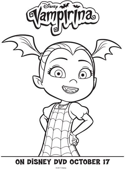 Printable Activities And Coloring Pages Featuring Vampirina With