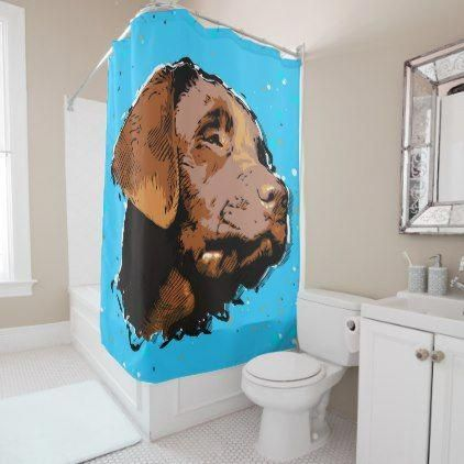 Labrador Puppy Shower Curtain Labrador Retriever Puppy
