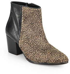 2494414190 FREDA SALVADOR Divide Spotted Calf Hair & Leather Ankle Boots on shopstyle .com