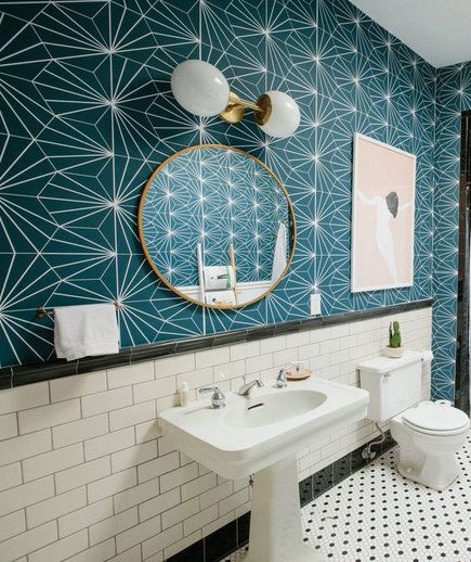 These Wallpaper Ideas Will Convince You To Give Paper A Shot Wall Wallpaper Tile Wallpaper Chasing Paper