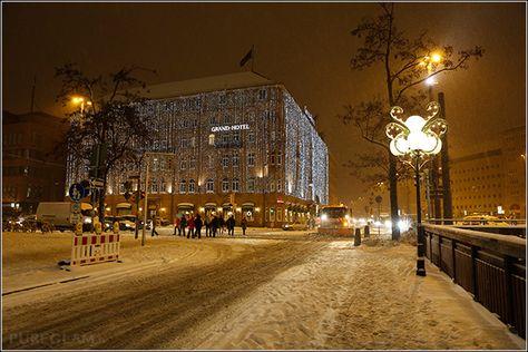 Le Meridien Grand Hotel Nürnberg during winter time with snow - near Main Station - Nuremberg/Nürnberg, Germany/Deutschland