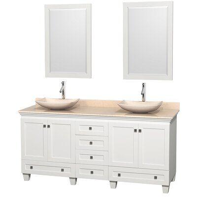 Wyndham Collection Acclaim 72 Double Bathroom Vanity Set With