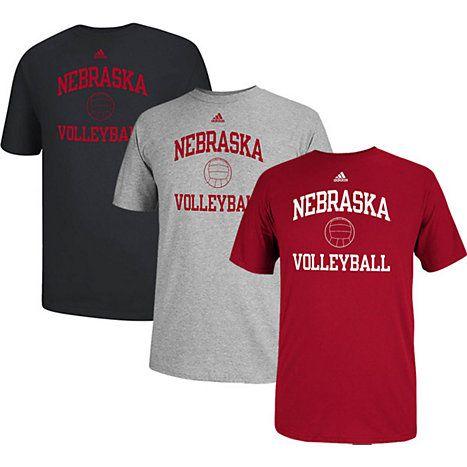 Adidas University Of Nebraska Lincoln Volleyball T Shirt Volleyball Tshirts Nebraska University Of Nebraska Lincoln