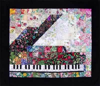 Piano Watercolor Quilt Kit In 2020 Watercolor Quilt History Of Quilting Quilts